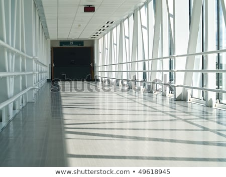 Stock photo: Covered Skywalk Tunnel