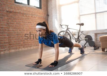 piernas · hombre · moda · cuerpo · metal · ejercicio - foto stock © user_9834712