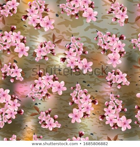 végtelen · minta · sakura · eps · 10 · rózsaszín · virág - stock fotó © beholdereye