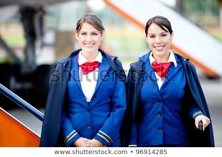 Anfitriona nina aeropuerto ilustración avión funny Foto stock © adrenalina