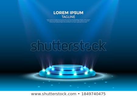 Stock fotó: Pódium · stúdió · eps · 10 · megvilágított · fény
