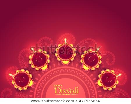 Güzel diwali tebrik süsler dekorasyon Stok fotoğraf © SArts