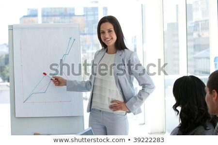 Gyönyörű üzletasszony eladó nő boldog munka Stock fotó © wavebreak_media
