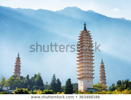 landmarks of the famous three pagodas stock photo © bbbar