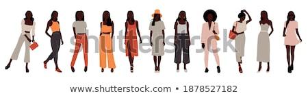 вектора набор Cartoon бизнеса формальный женщины Сток-фото © maia3000