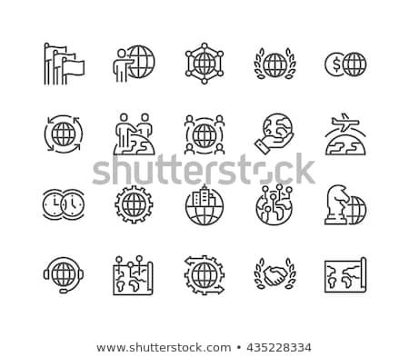 globalisering · lijn · icon · vector · geïsoleerd · witte - stockfoto © rastudio