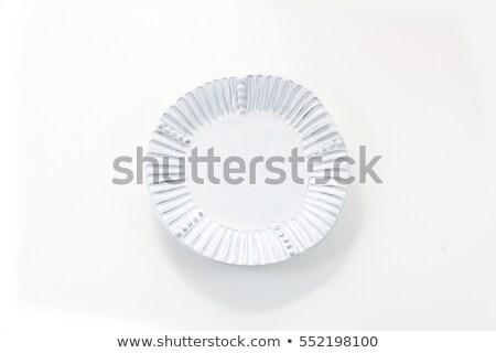 irregular rim dinner plate stock photo © digifoodstock