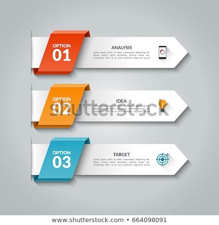 три баннер опции дизайна графа Сток-фото © SArts