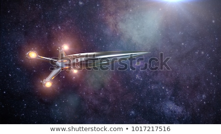 Alien Spaceship On Earth Stock photo © idesign