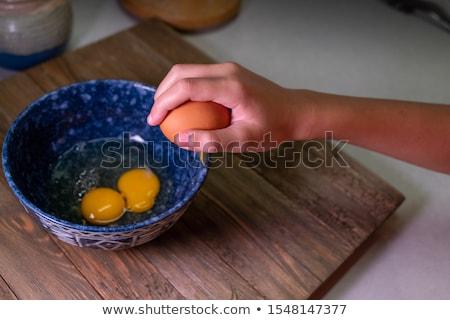 треснувший яйца чаши пусто продовольствие Сток-фото © Digifoodstock