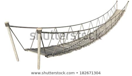 веревку · моста · белый · доски · проволоки - Сток-фото © albund