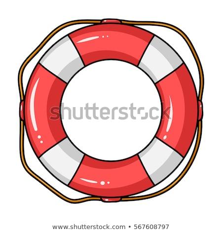 Vector cartoon style Lifebuoy. Icon for web. Isolated on white b Stock photo © curiosity