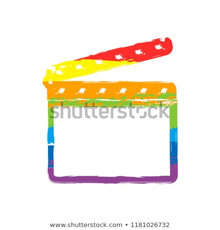 Colorful painted film clapperboard isolated on white  Stock photo © sqback