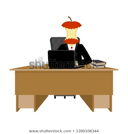 Boss apple stump. Director stub of table. Executive desk Stock photo © popaukropa
