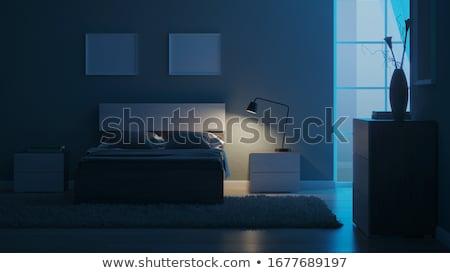 romantische · slaapkamer · interieur · groot · sofa - stockfoto © manera