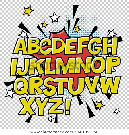 コミック アルファベット 吹き出し ハーフトーン サークル ストックフォト © pashabo