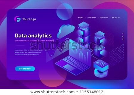 big data analytics concept on laptop screen 3d stock photo © tashatuvango