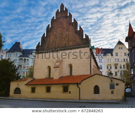 Oude synagoge Praag kunst star kleur Stockfoto © Pilgrimego