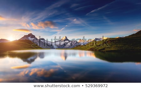 Panoramic view of the Mt. Schreckhorn and Wetterhorn. Location p Stock photo © Leonidtit