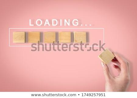 Hand Finger Press 3D Movie Key. Stock photo © tashatuvango