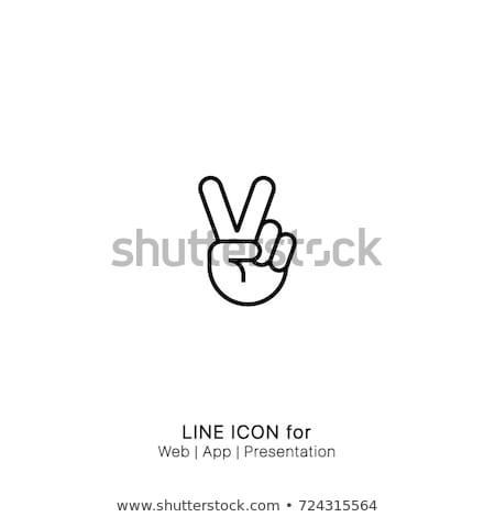Foto stock: Silueta · mano · símbolo · paz · forma · vida