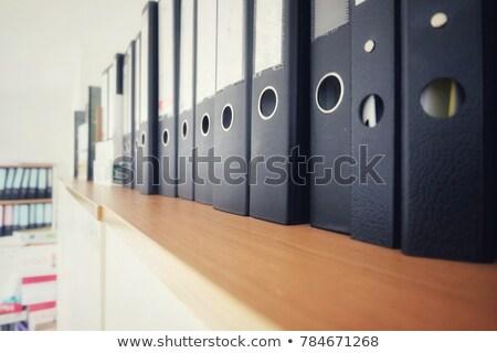 database on binder blurred image stock photo © tashatuvango