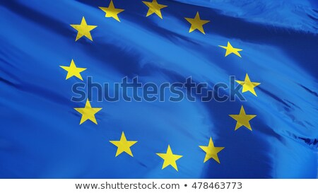 Flag of the European Union with waving motion Stock photo © bestmoose