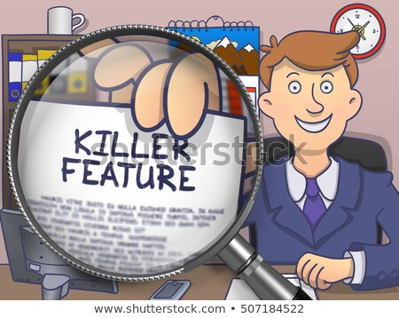 Killer Feature through Lens. Doodle Concept. Stock photo © tashatuvango