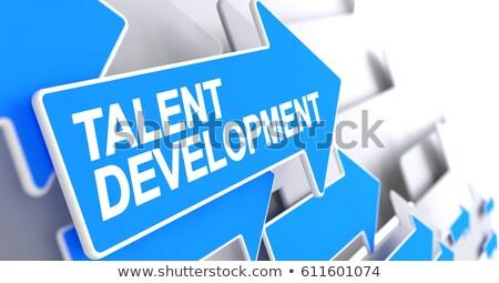 Stock foto: Personal Development - Label On Blue Arrow 3d