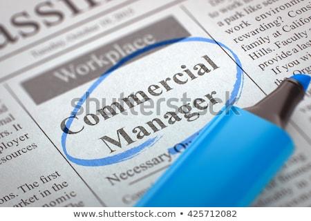 Handlowych kierownik poszukiwany gazety oferty pracy sekcja Zdjęcia stock © tashatuvango