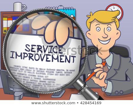 Service Improvement through Lens. Doodle Style. Stock photo © tashatuvango