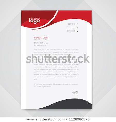 Blau geometrischen Briefkopf Vorlage Design drucken Stock foto © SArts