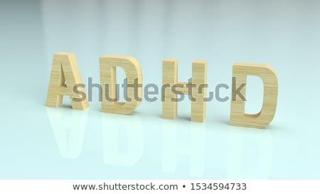 ADHD Diagnosis. Medical Concept. 3D. Stock photo © tashatuvango