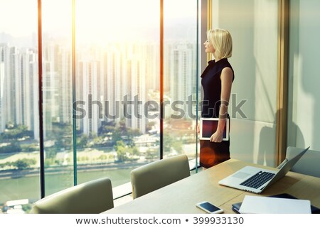 Computing Infrastructure on Laptop in Conference Room. Stock photo © tashatuvango