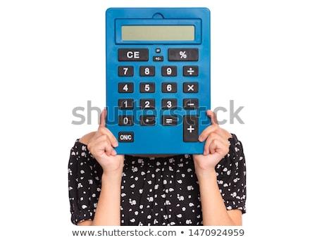 Calculadora adolescente persona matemáticas Foto stock © monkey_business