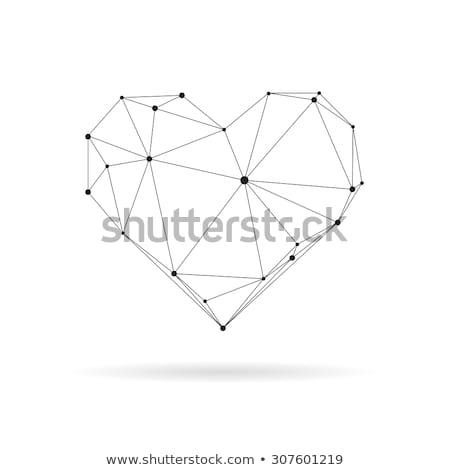 минимальный оригами стиль формы сердца бумаги сердце Сток-фото © SArts