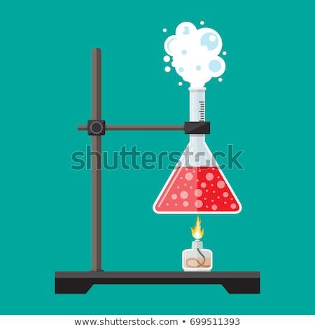 стекла лаборатория колба вектора Cartoon иллюстрация Сток-фото © RAStudio