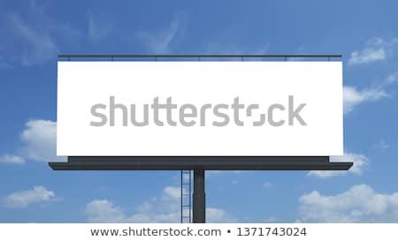 óriásplakát · 3D · kész · tiszta · égbolt · mögött · égbolt - stock fotó © paviem