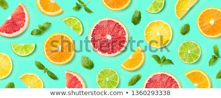 Muitos limão citrinos padrão comida natureza Foto stock © lunamarina