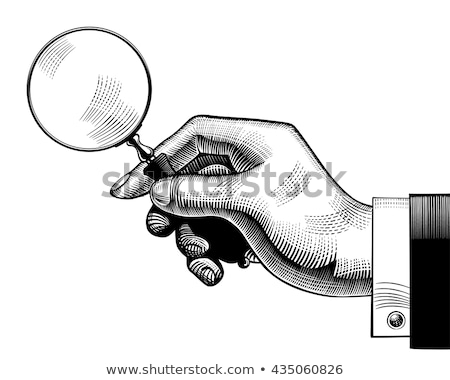 vintage drawing of hand sign in engraving style stock photo © foxysgraphic