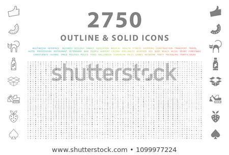 Documento linha conjunto ícones teia Foto stock © Voysla