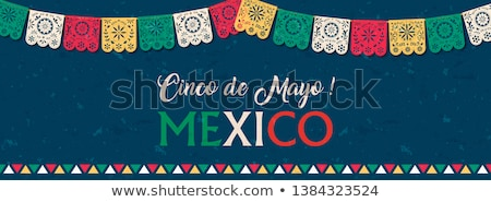 Viva mexico text quote card for mexican holiday Stock photo © cienpies