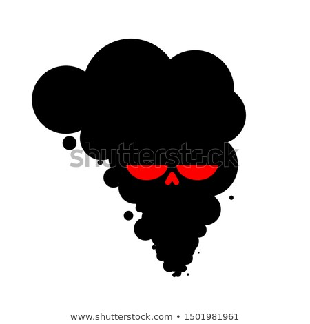 Black Smoke skull plant. works is poisoning air. Environmental p Stock photo © MaryValery