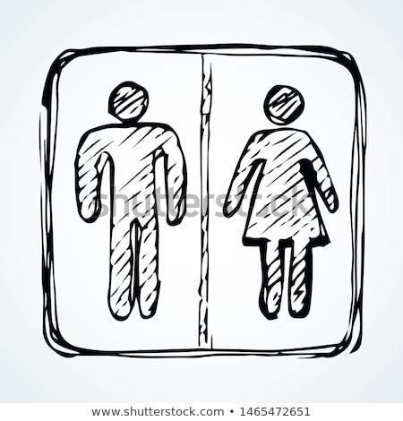 Stok fotoğraf: Kadın · erkek · semboller · karalama