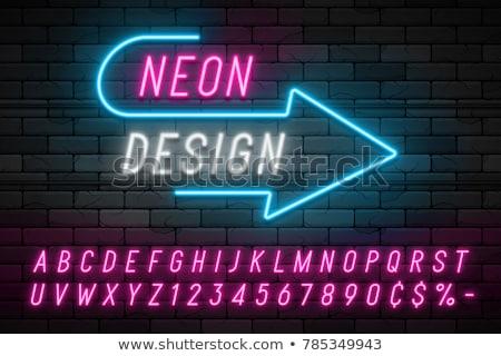 kaszinó · neon · kártyák · póker · szimbólumok · üres - stock fotó © articular