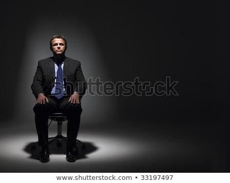empresário · sessão · holofote · escritório · homem · luz - foto stock © monkey_business