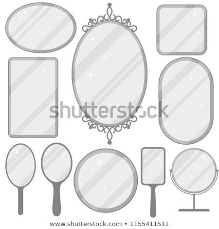 Espelho conjunto realista quadro coleção diferente Foto stock © Andrei_