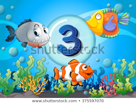 three fish underwater scene stock photo © bluering