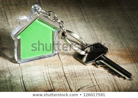 дома ключами теплица деревянный стол модель домой Сток-фото © AndreyPopov