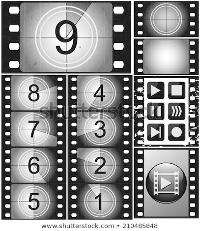 Film çerçeve geriye sayım ikon ince hat Stok fotoğraf © angelp